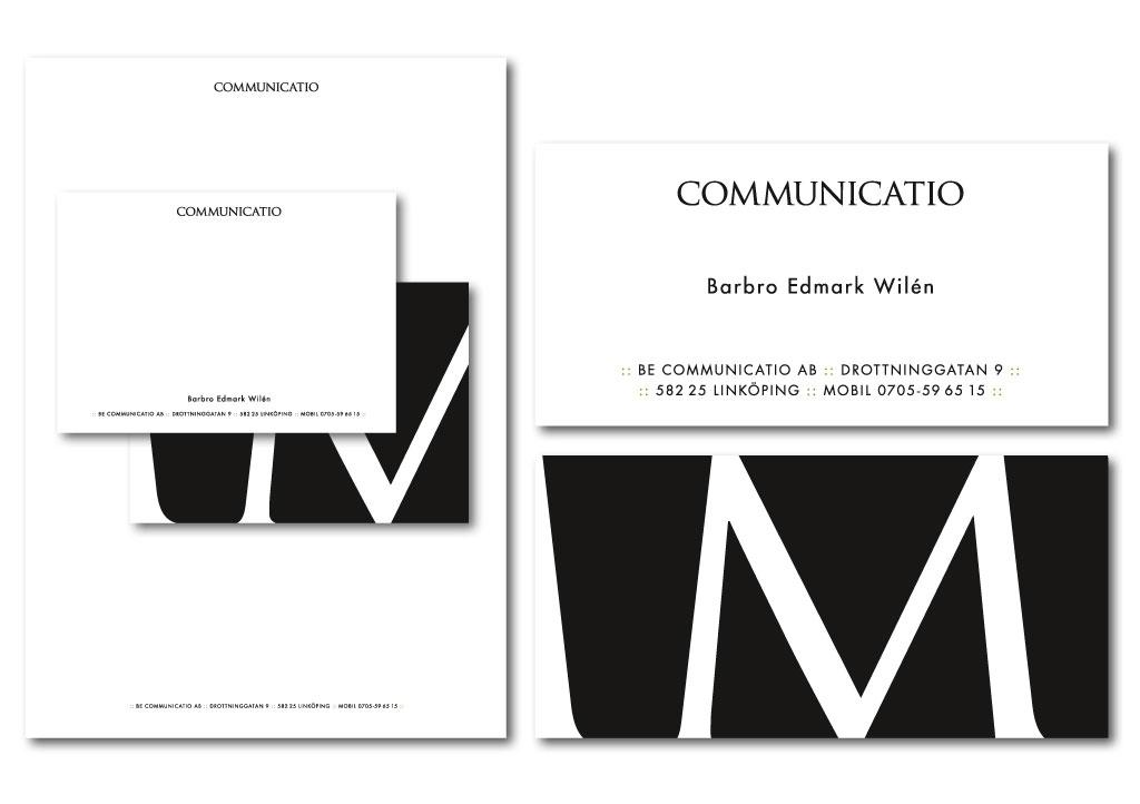 Logotyp och grafisk profil för Communicatio.