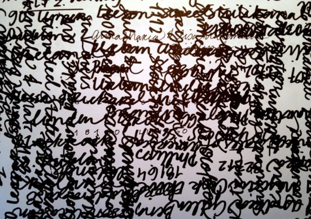 """Handskrivet kräver snits för att få till den rätta """"svoschen""""."""