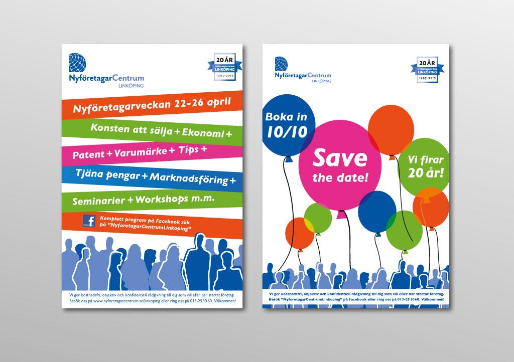 Eurosize-affischer för NyföretagarCentrum LInköping