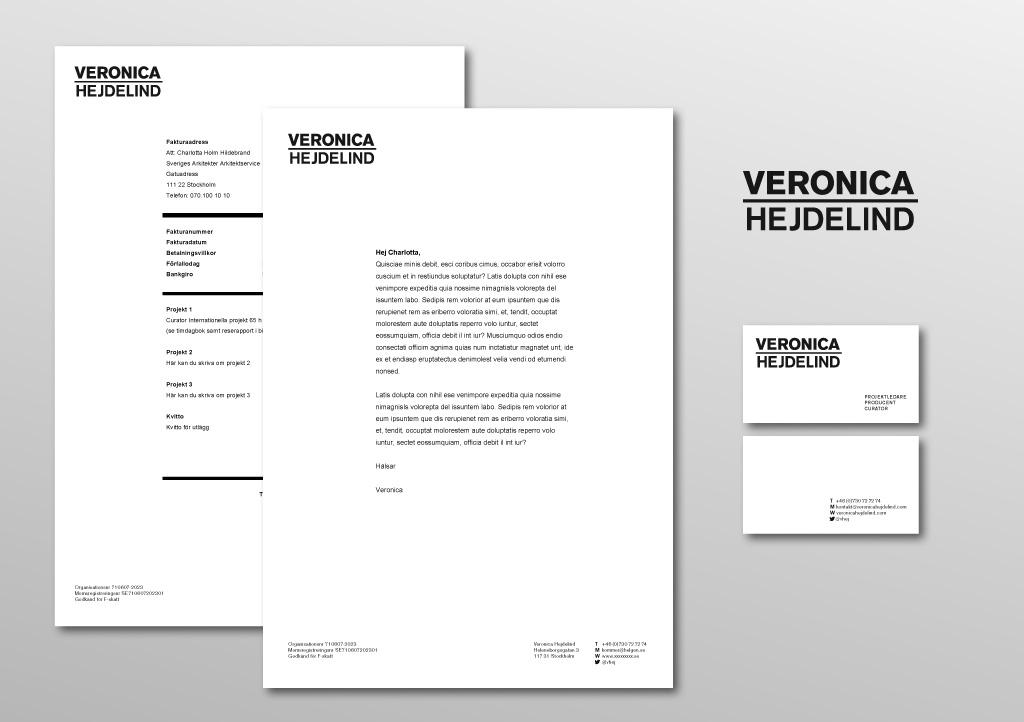 Grafisk profil för Veronica Hejdelind