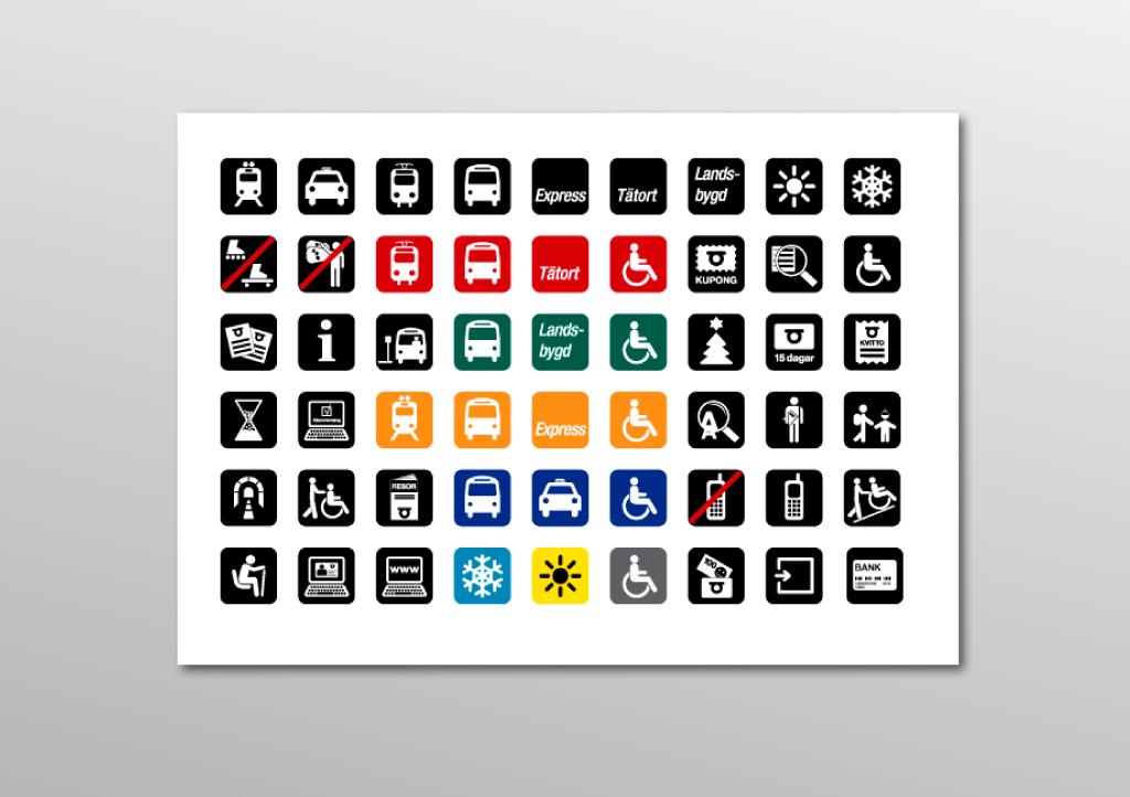 Symboler för ÖstgötaTrafiken